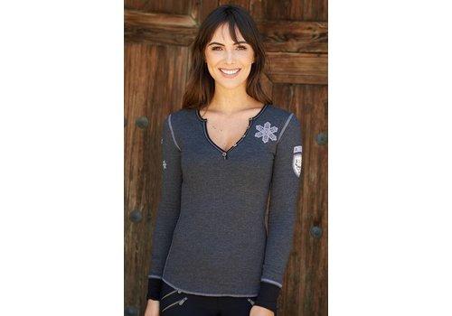 ALP-N-ROCK Alp-N-Rock La Neige Ladies Henley Shirt Heather Black -Hbk (17/18)