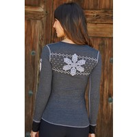 Alp-N-Rock La Neige Ladies Henley Shirt Heather Black -Hbk (17/18)