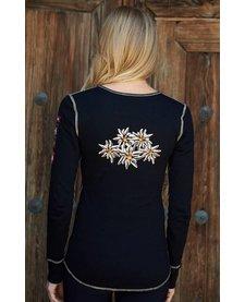 Alp-N-Rock Edelweiss III Ladies L/S Henley Shirt Black -Blk (17/18)