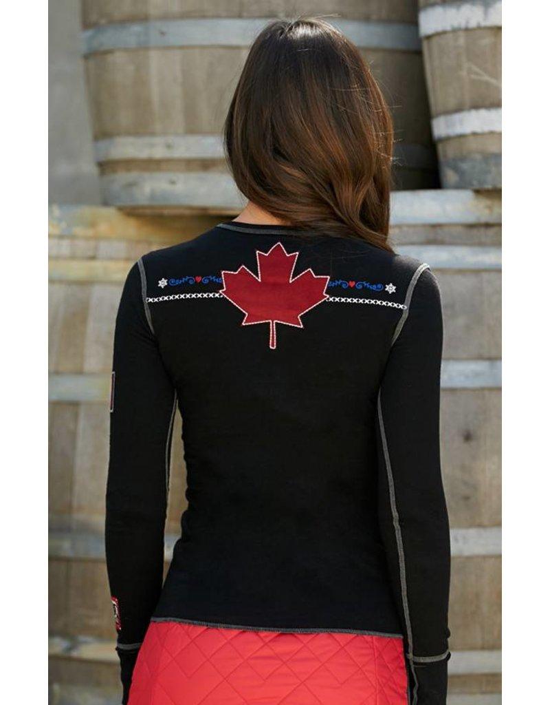 ALP-N-ROCK Alp-N-Rock Team Canada Ladies L/S Crew Shirt Black -Blk (17/18)