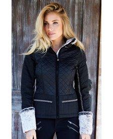 Alp-N-Rock Courchevel Jacket Ladies Fitted Jacket W/ Fleece Cuffs Black -Blk (17/18)