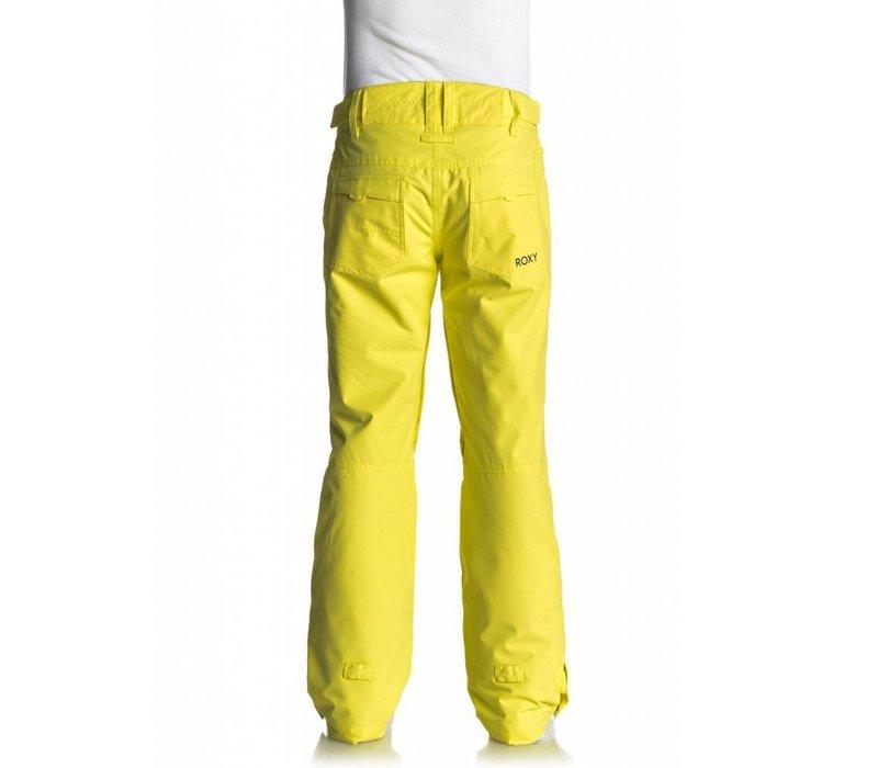 Roxy Womens Backyard Pant Lemon Tonic -Yfk0 (17/18)