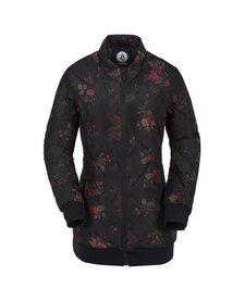 Volcom Womens Casco Down Puff Jkt Black Floral Print -Bfp (17/18)