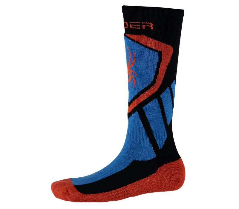 Spyder Boys Venture Sock 001 Black/French Blue/Burst - (17/18)