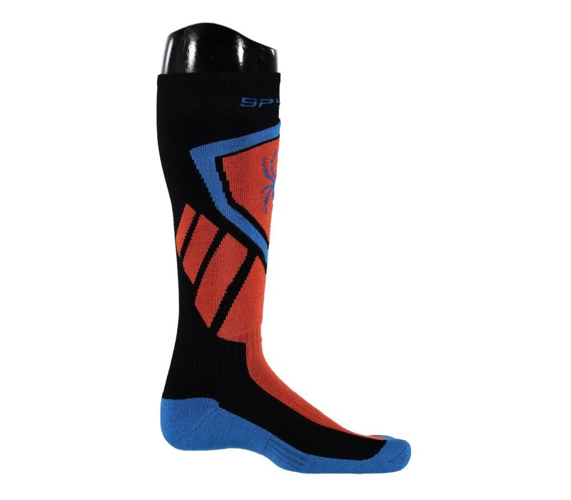 Spyder Mens Venture Sock 015 Black/Burst/French Blue - (17/18)