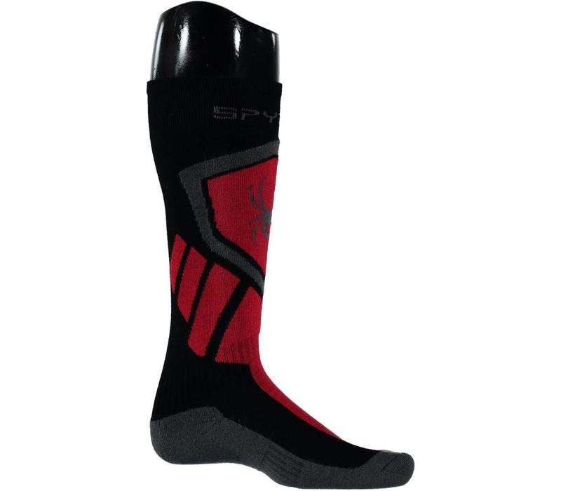 Spyder Mens Venture Sock 001 Black/Red/Polar - (17/18)