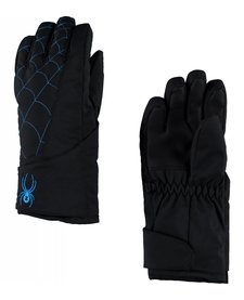 Spyder Mini Overweb Ski Glove 017 Black/French Blue - (17/18)