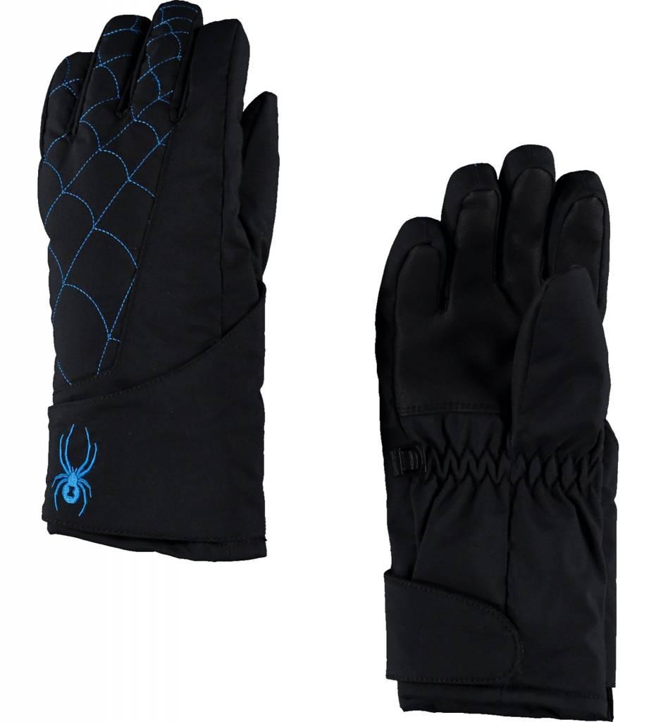 SPYDER Spyder Mini Overweb Ski Glove 017 Black/French Blue - (17/18)