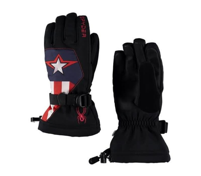 Spyder Boys Marvel Overweb Ski Glove 001 Black/Captain - (17/18)