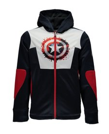 Spyder Boys Marvel Riot Full Zip Hoody 402 Frontier/Captain - (17/18)