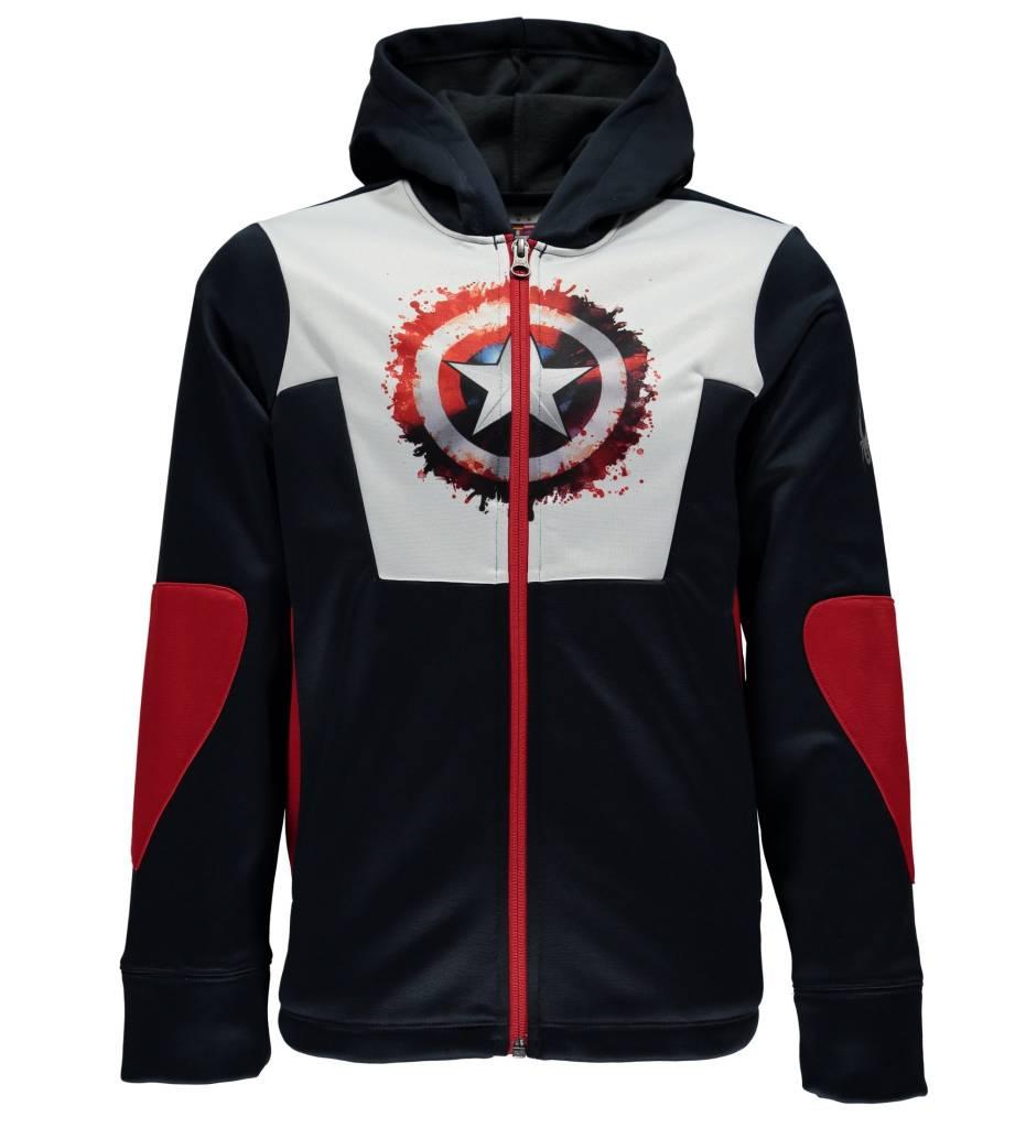 SPYDER Spyder Boys Marvel Riot Full Zip Hoody 402 Frontier/Captain - (17/18)