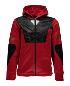 Spyder Boys Marvel Riot Full Zip Hoody 600 Red/Ironman - (17/18)
