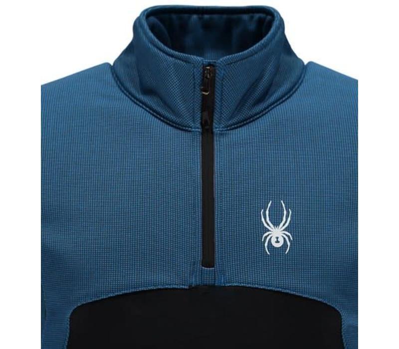 Spyder Mens Capitol Fleece 1/2 Zip Insulator Jacket 434 French Blue/Black - (17/18)