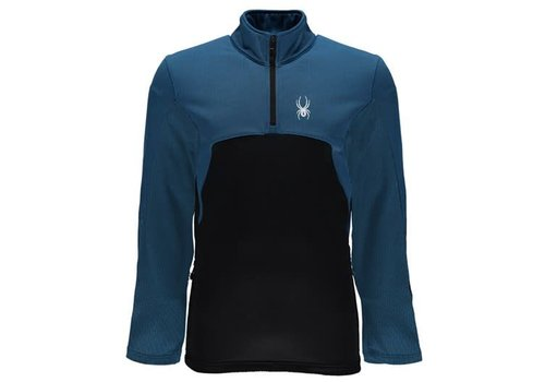 SPYDER Spyder Mens Capitol Fleece 1/2 Zip Insulator Jacket 434 French Blue/Black - (17/18)