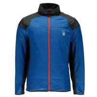 Spyder Mens Glissade Full Zip Insulator Jacket 434 French Blue/Polar/Polar - (17/18)