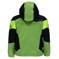 Spyder Mini Chambers Jacket 321 Fresh/Black/Bryte Yellow with Spyder Mini Expedition Pant 001 Black/Black - (17/18)