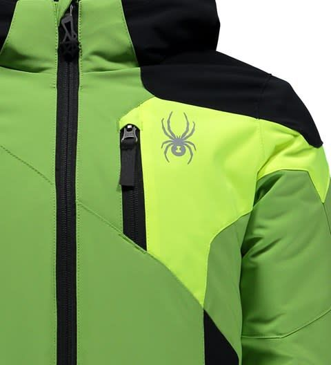SPYDER Spyder Mini Chambers Jacket 321 Fresh/Black/Bryte Yellow with Spyder Mini Expedition Pant 001 Black/Black - (17/18)