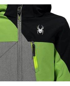 Spyder Boys Ambush Jacket 079 Polar Herringbone/Fresh/Black - (17/18)