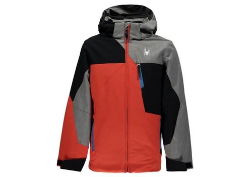 SPYDER Spyder Boys Ambush Jacket 626 Burst/Black/Polar Herringbone - (17/18)