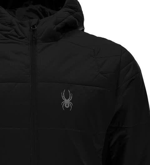 SPYDER Spyder Mens Glissade Full Zip Hoody Insulator Jacket 001 Black/Black/Black - (17/18)