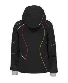Spyder Girls Tresh Jacket 001 Black/White/Fresh - (17/18)