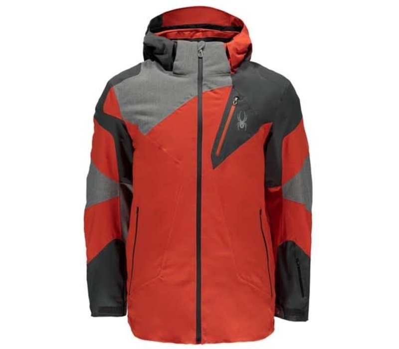 Spyder Mens Leader Jacket 626 Burst/Polar/Polar Herringbone - (17/18)