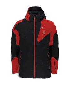 Spyder Mens Leader Jacket 001 Black/Red/Black - (17/18)