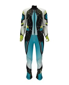Spyder Womens Nine Ninety Race Suit 449 Baltic/Black/Bryte Yellow - (17/18)