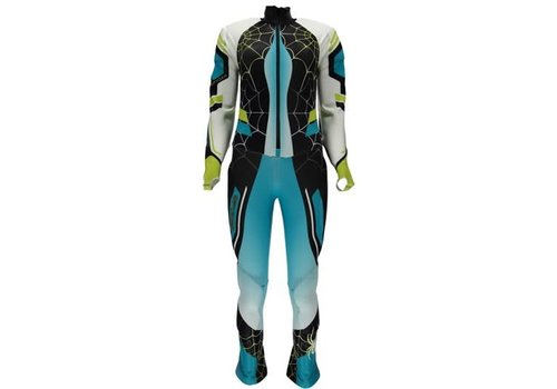 SPYDER Spyder Womens Nine Ninety Race Suit 449 Baltic/Black/Bryte Yellow - (17/18)