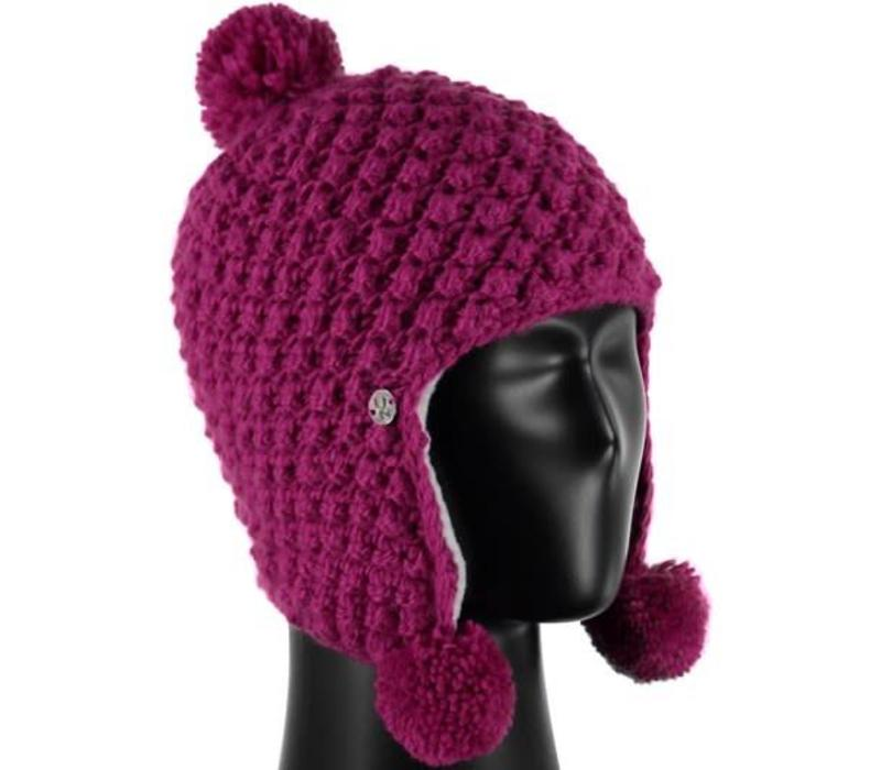 Spyder Bitsy Brrr Berry Hat 678 Raspberry - (17/18) ONE SIZE