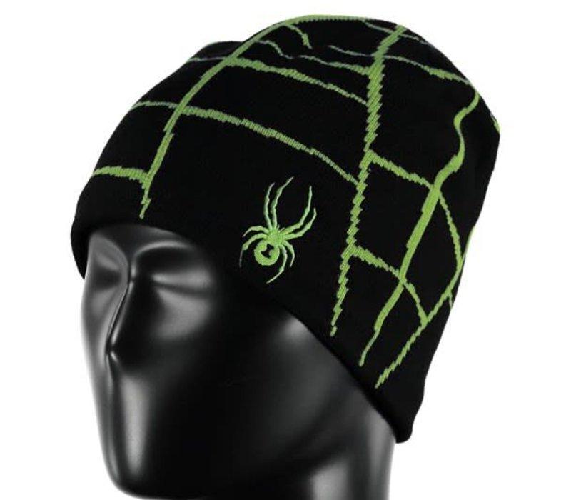 Spyder Boys Web Hat 017 Black/Fresh - (17/18) ONE SIZE