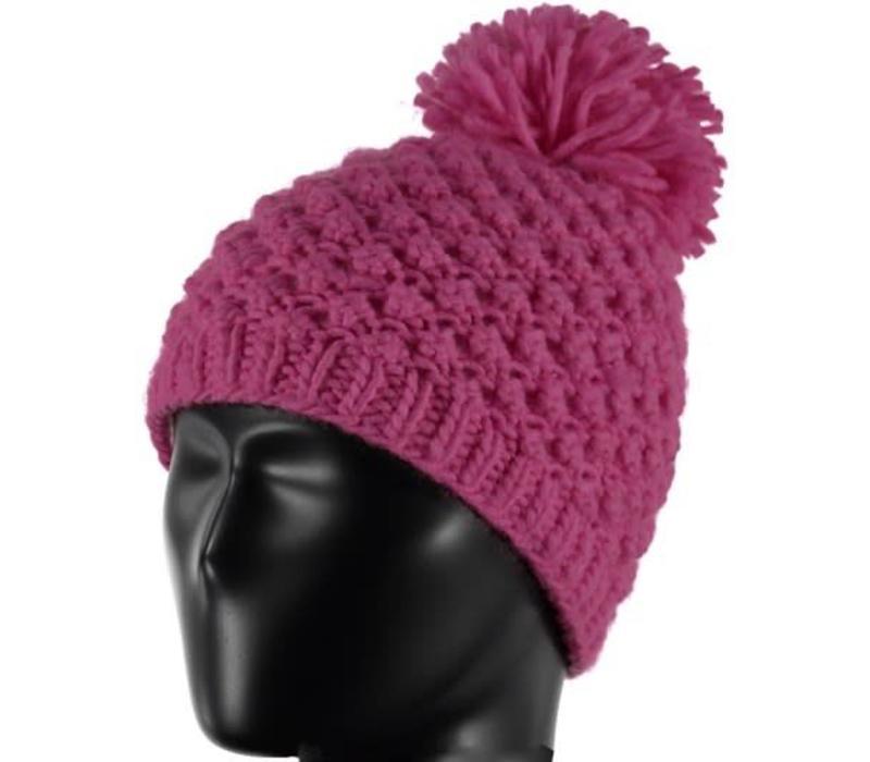 Spyder Girls Brrr Berry Hat 678 Raspberry - (17/18) ONE SIZE