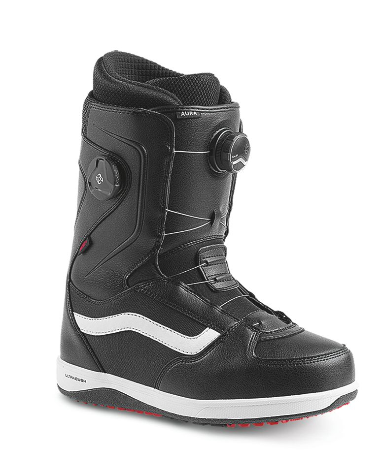 VANS Vans Mens Aura Snowboard Boot Black/White/Red 17 - (17/18)