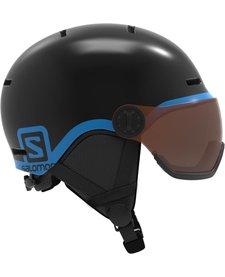 Salomon Jr Grom Visor Black Helmet - (17/18)