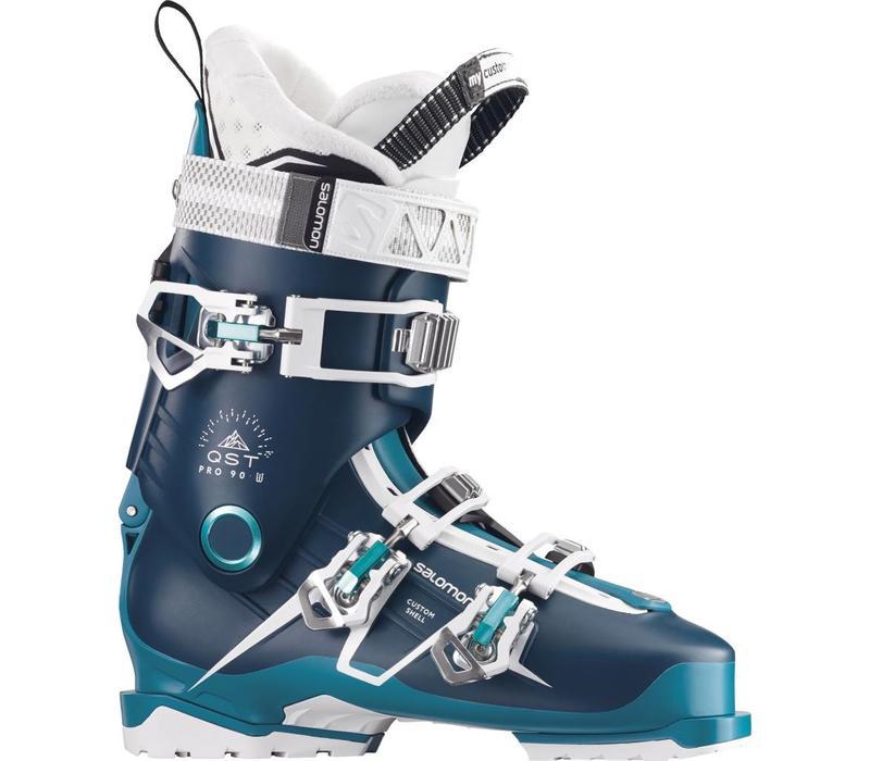 Salomon Womens Qst Pro 90 W Petrol Bl/Bl/Aqu Ski Boot - (17/18)