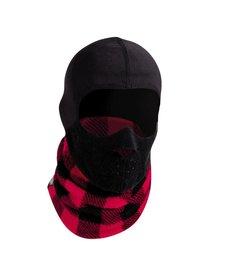 Turtle Fur Kids Playful Prints Windbloc: Maskot Full Face Protection 614 Lumberjack - (17/18)