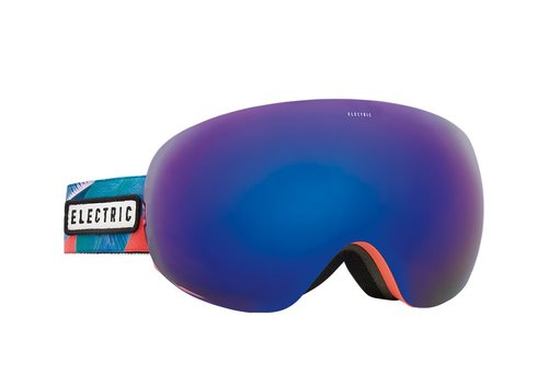 ELECTRIC Electric Womens Eg3.5 Goggle Pink Palms -Brose/Blue Chrome Lens W Light Green Bonus Lens (17/18)