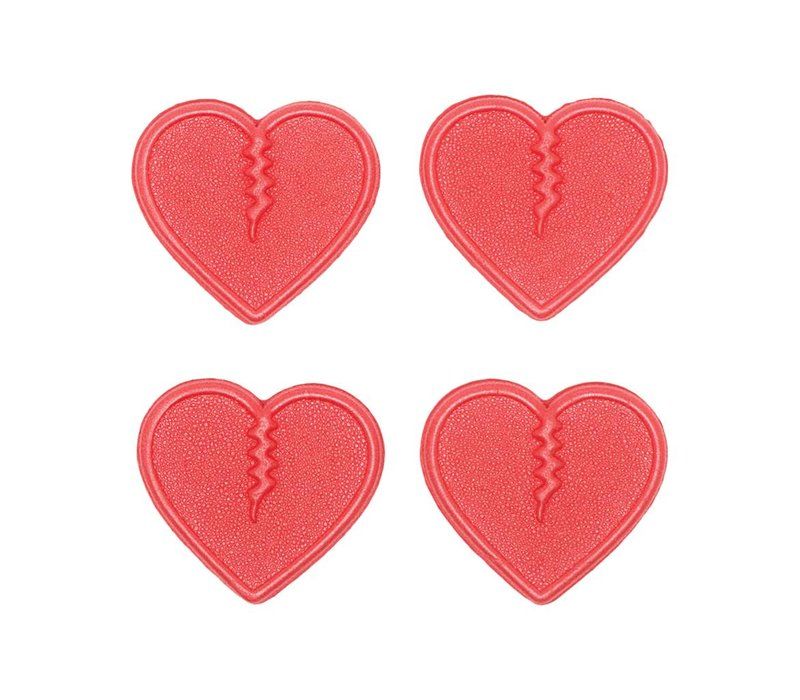Crab Grab Mini Hearts - Red