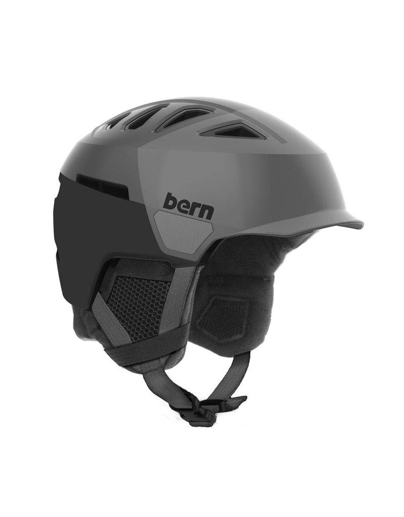 BERN Bern Mens Heist Brim Helmet Satin Grey Hatstyle - (17/18)