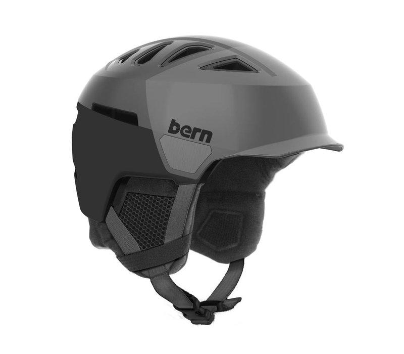 Bern Mens Heist Brim Helmet Satin Grey Hatstyle - (17/18)