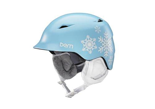 BERN Bern Girls Camina Helmet Satin Blue Snowflake - (17/18)