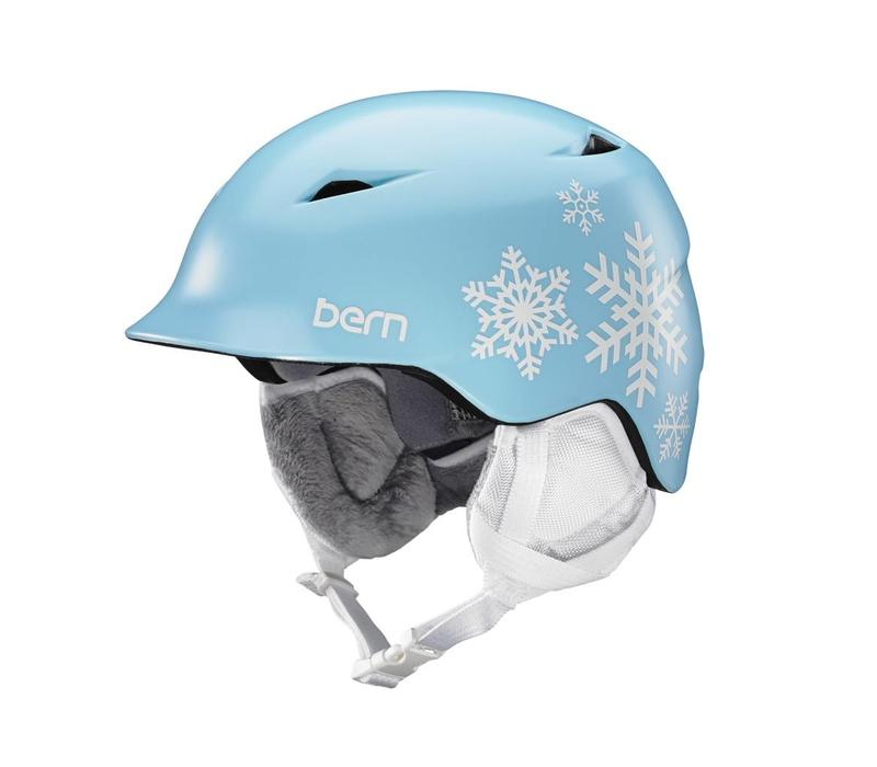 Bern Girls Camina Helmet Satin Blue Snowflake - (17/18)