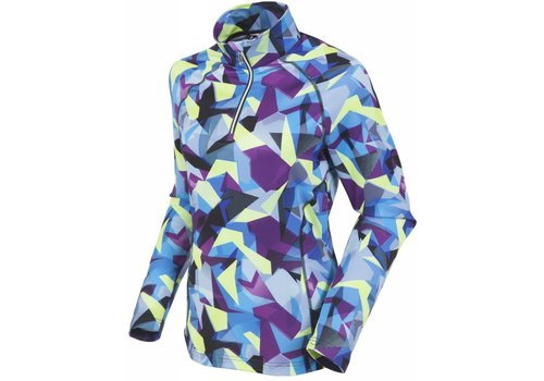 SUNICE Sunice Womens Ski Lodge Lightweight Thermal Pullover Ind1 328 Geo Mountain Indigo - (17/18)