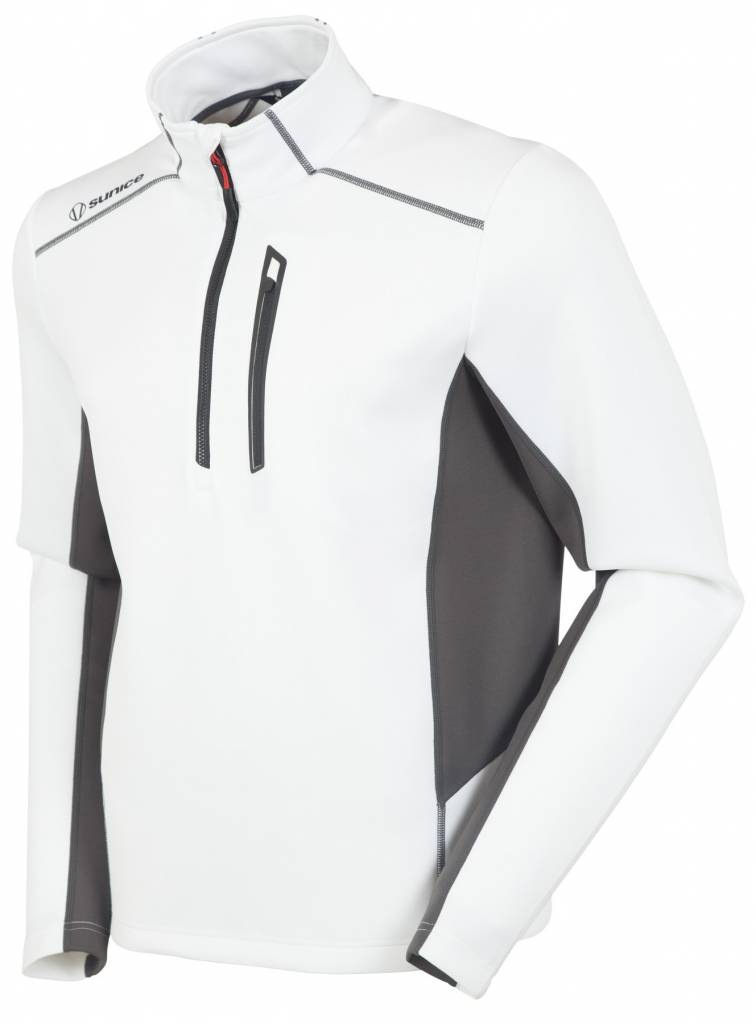 SUNICE Sunice Mens Patrol 1/4 Zip Pullover Whi 801 White/Carbon - (17/18)