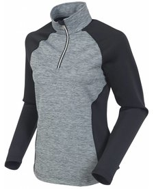 Sunice Womens All Around Lightweight Thermal Pullover Mlng 912 Black Melange - (17/18)