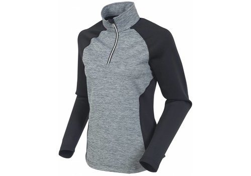 SUNICE Sunice Womens All Around Lightweight Thermal Pullover Mlng 912 Black Melange - (17/18)