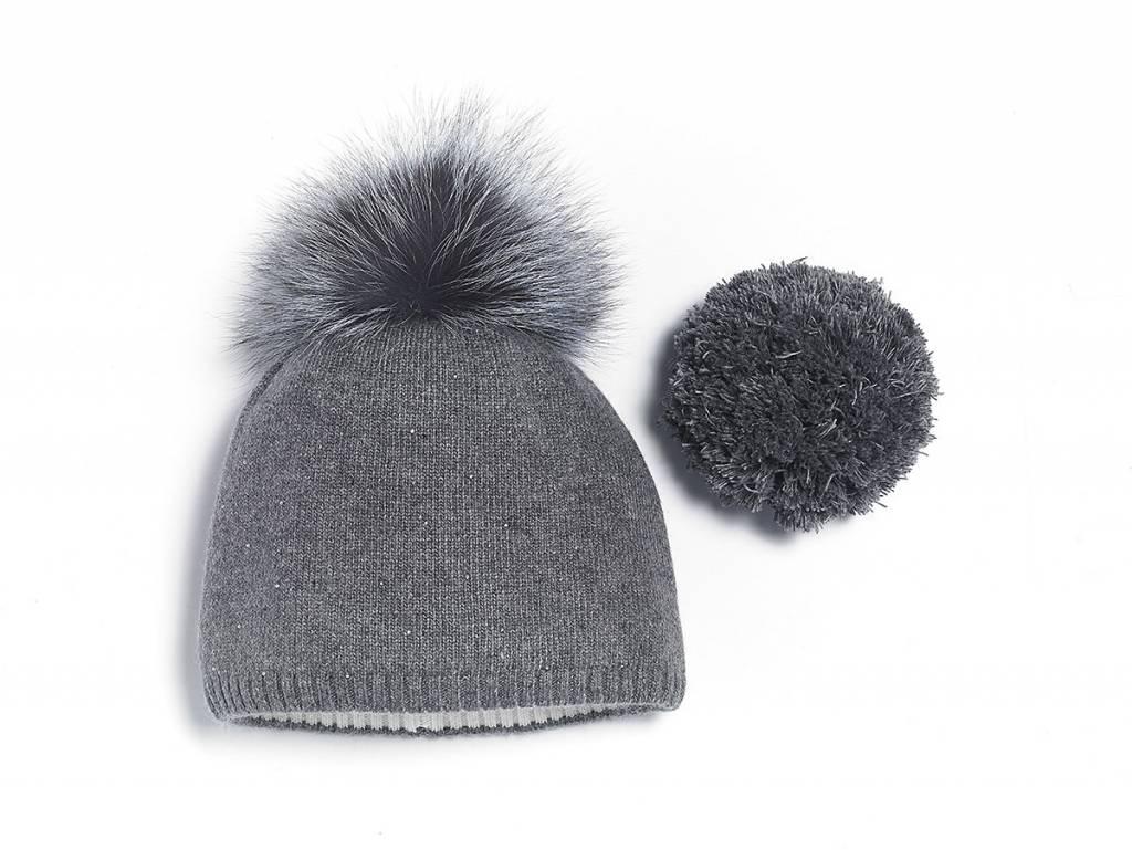Brume Brume Womens North Twin Hat Med. Grey -37H (17/18) HOS