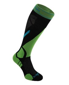 Bridgedale Mens Vertige Light Sock Black/Green -843 (17/18)