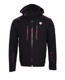Descente Mens Rogue Jacket Bk/Erd-Black/Electric Red -9385 (17/18)