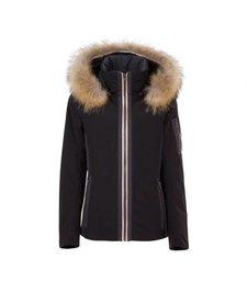 Fera Womens Danielle Parka With Faux Fur Black -001 (17/18)